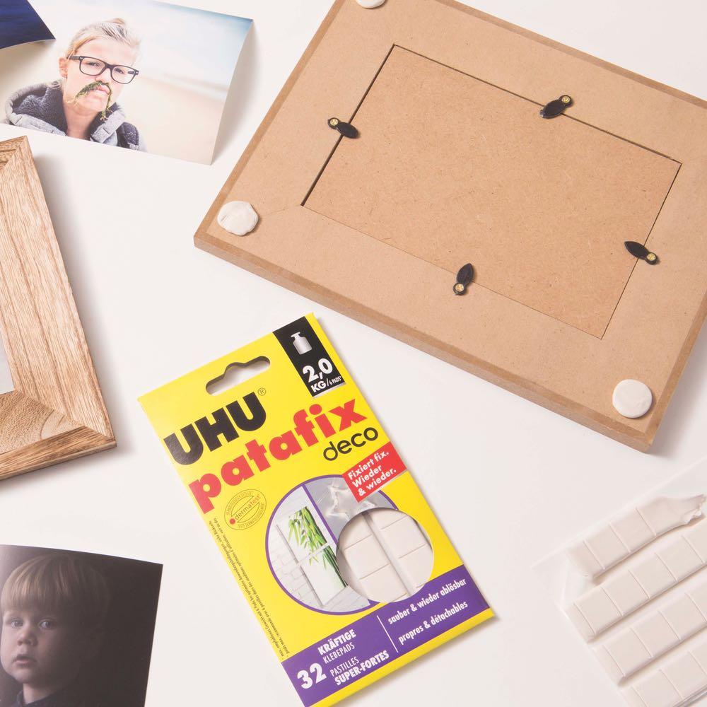 UHU patafix homedeco   kräftige, wieder ablösbare Klebepads, 20 Stück
