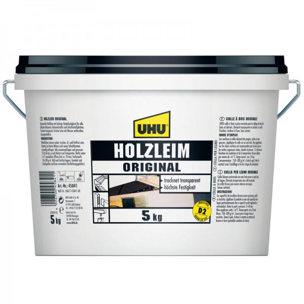 UHU HOLZLEIM ORIGINAL EN 204 (D2), ohne Lösungsmittel, Eimer 5kg