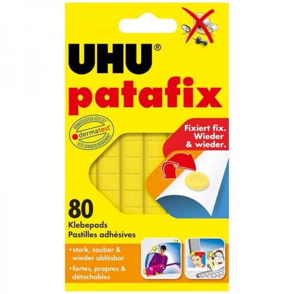 UHU patafix gelb, wieder ablösbare Klebepads, 80 Stück
