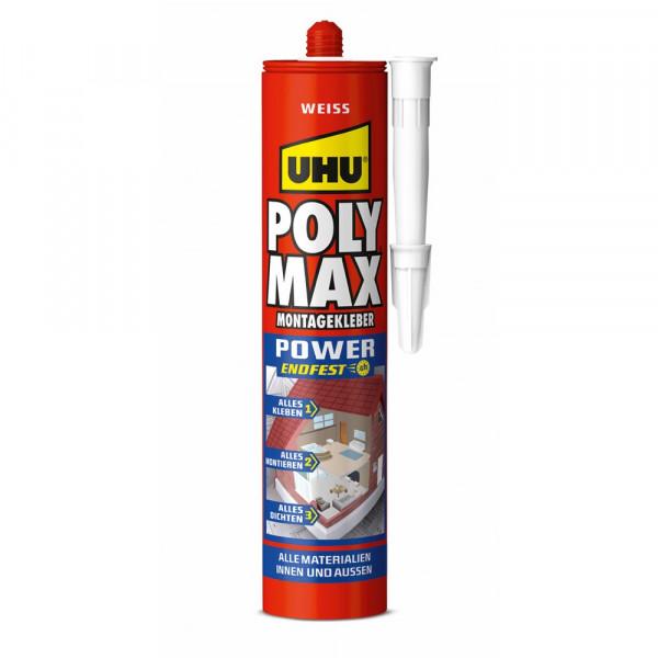 UHU POLY MAX POWER WEISS,Kartusche 425g