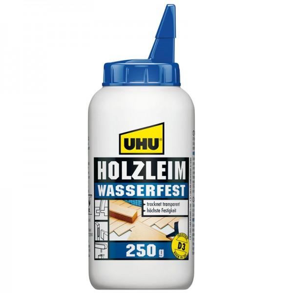 UHU HOLZLEIM WASSERFEST EN 204 (D3), ohne Lösungsmittel, Flasche 250g