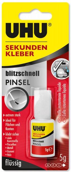 UHU SEKUNDENKLEBER blitzschnell PINSEL flüssig, Flasche 5g