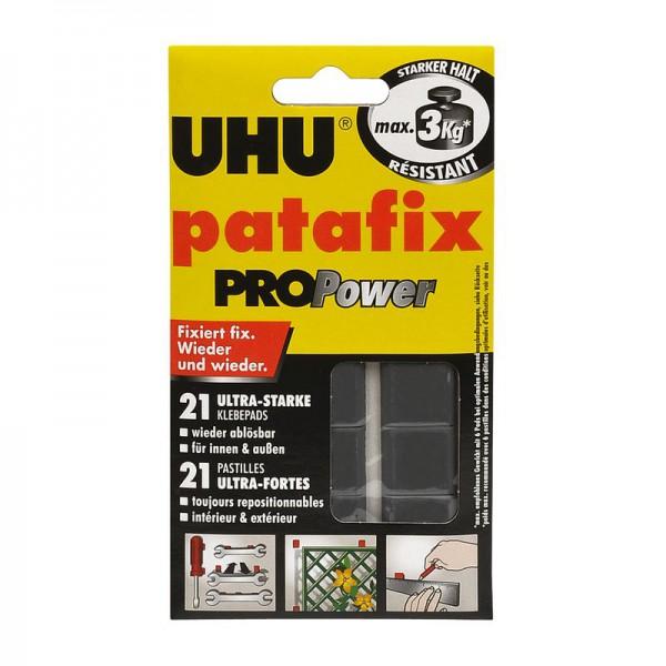 UHU patafix PROPower - ultra-starke, wieder ablösbare Klebepads, 21 Stück