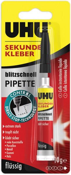 UHU SEKUNDENKLEBER blitzschnell PIPETTE Control, 10g