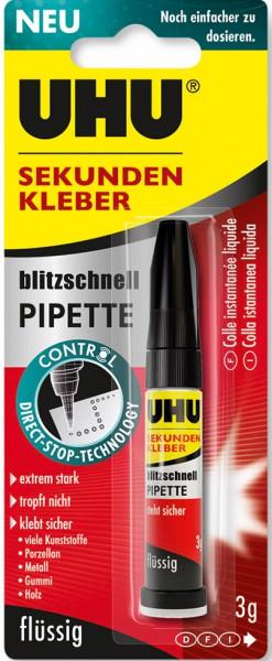 UHU SEKUNDENKLEBER blitzschnell PIPETTE Control, 3g