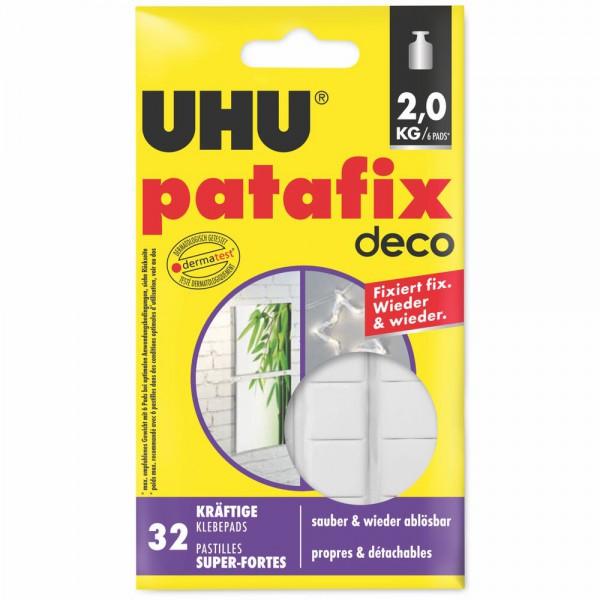 UHU patafix homedeco - kräftige, wieder ablösbare Klebepads, 32 Stück