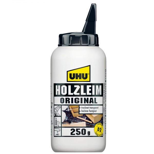 UHU HOLZLEIM ORIGINAL EN 204 (D2), ohne Lösungsmittel, Flasche 250g