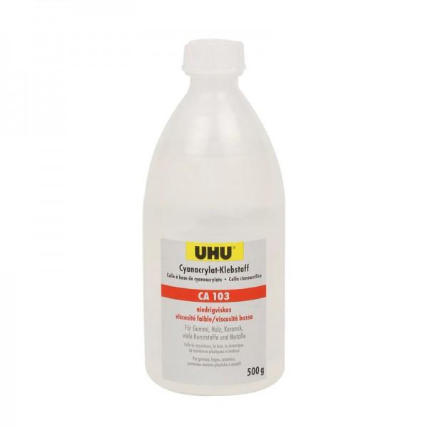 UHU CA 103 - dünnflüssig / universal, Flasche 500g