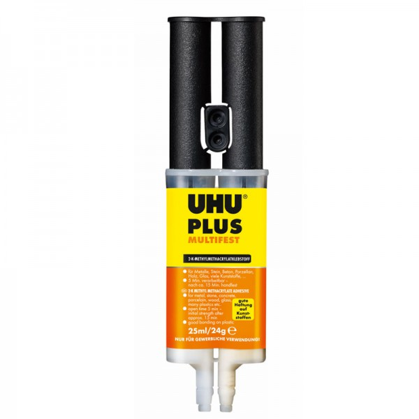 UHU PLUS MULTIFEST, Doppelkammerspritze 25ml/24g