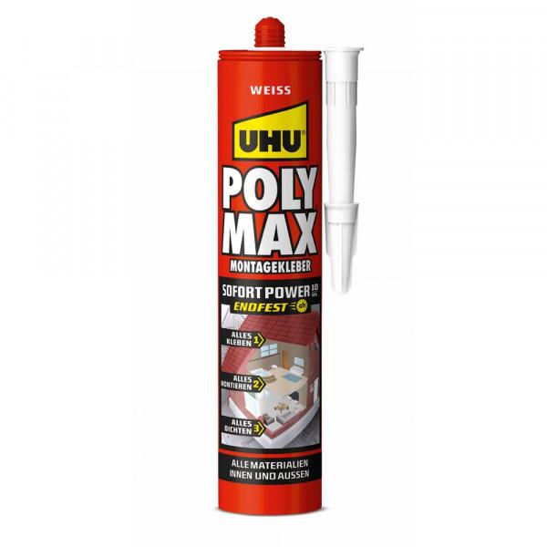 UHU POLY MAX 10 SEK SOFORT POWER WEISS, Kartusche 425g