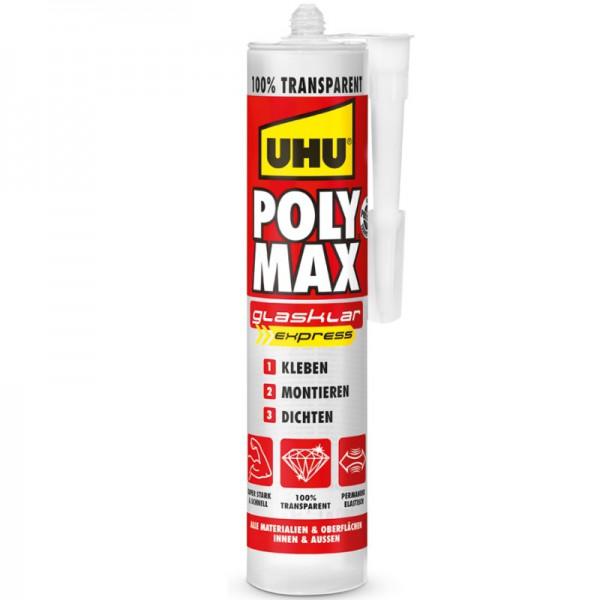 UHU POLY MAX GLASKLAR EXPRESS, Kartusche 300g