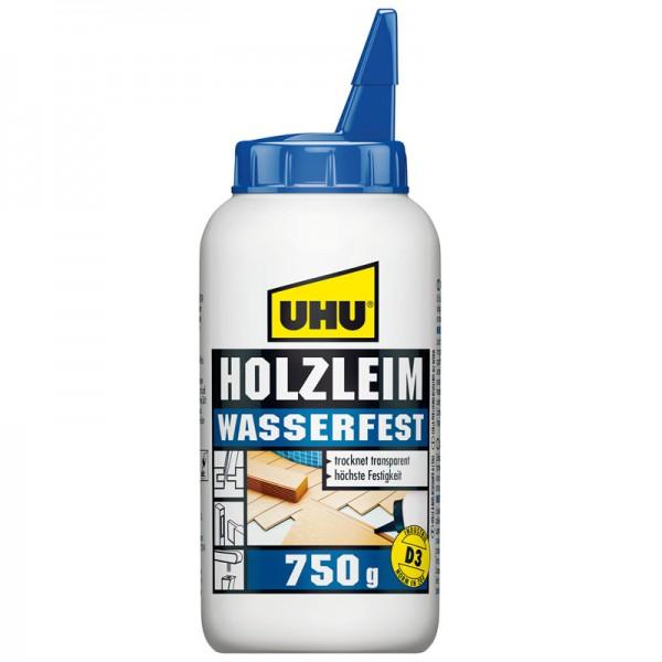 UHU HOLZLEIM WASSERFEST EN 204 (D3), ohne Lösungsmittel, Flasche 750g